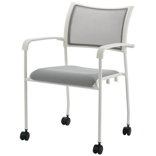 最安価格 ジョインテックス 会議イスGKM-A50ホワイト 肘付キャスタ付 (会議室椅子/ミーティングチェア), アテックスダイレクト 89f817f6