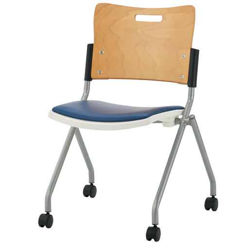 本物 ジョインテックス 会議イス FJC-K8L NV 肘なし (会議室椅子/ミーティングチェア), soraciel 5f025f86