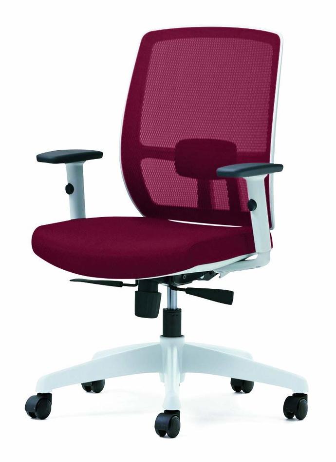 プラス オフィスチェア メッシュ/ロッキング レッド BJ KD-BJ51ML RD (事務椅子/オフィスチェア/ワークチェア)