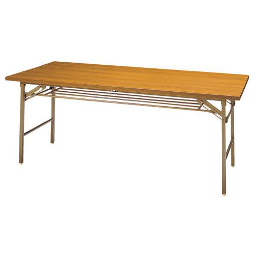 6/1限定pt最大10倍/ジョインテックス 脚折りたたみ式テーブル 幅1800mm×奥行き600mm チーク DS-2T (会議用テーブル 折りたたみ/ミーティングテーブル)