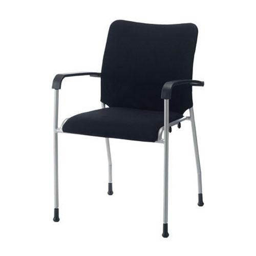 ジョインテックス 会議イス GK-A31R ブラック 肘付 (会議室椅子/ミーティングチェア)