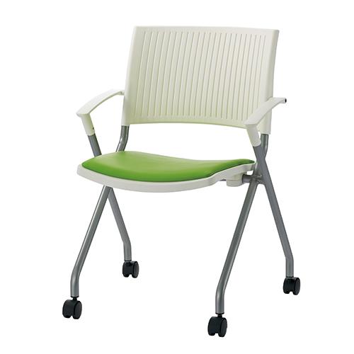 高速配送 ジョインテックス 会議イスFJC-K6AL イエローグリーン肘付 (会議室椅子/ミーティングチェア), PHANTOM 6769382a