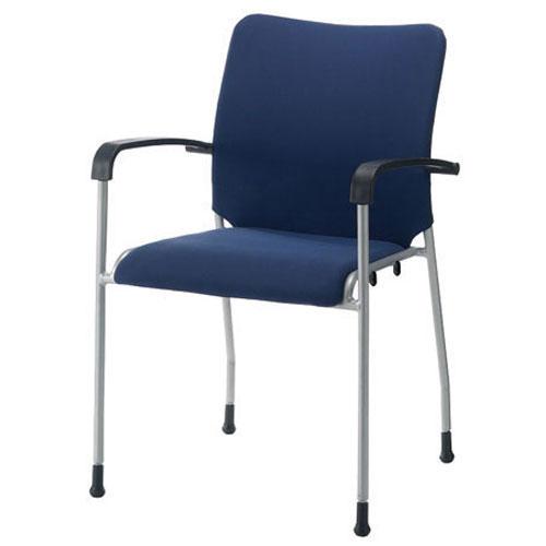 【予約販売】本 ジョインテックス 会議イス GK-A31R ネイビー 肘付 (会議室椅子/ミーティングチェア), meruru ef80eaae