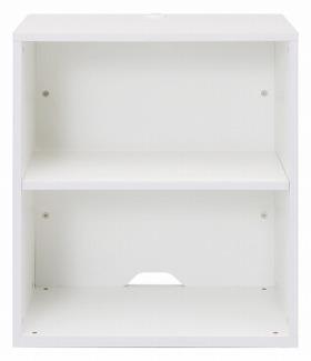 Garage 収納庫/本棚/書棚 H700 KK-60070 白/ホワイト (ガラージ/ガラーヂ/ガレージ/オフィス家具/SOHO/ソーホー/事務所/おしゃれ/シンプル)