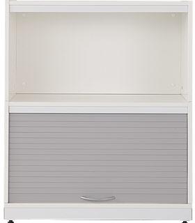 Garage シャッター扉収納庫 RR2段セット RR-2S-2 白/ホワイト (ガラージ/ガラーヂ/ガレージ/オフィス家具/SOHO/ソーホー/事務所/おしゃれ/シンプル)