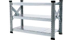 Garage メタルシステム 001838 3段W900 411-775 (ガラージ/ガラーヂ/ガレージ/おしゃれ/シンプル/METALSISTEM)