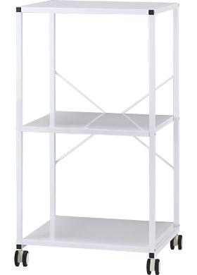 Garage プリンターラック3段 YS-76 白/ホワイト (ガラージ/ガラーヂ/ガレージ/オフィス家具/SOHO/ソーホー/事務所/おしゃれ/シンプル)