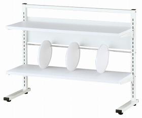 Garage デスクラック/机上棚 W850 YS-54 白/ホワイト (ガラージ/ガラーヂ/ガレージ/オフィス家具/SOHO/ソーホー/事務所/おしゃれ/シンプル)