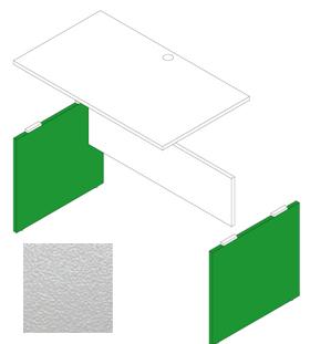 Garage デスク部材 木製パソコンデスクAF用脚 奥行70cm用 AF-K07 白 (ガラージ/ガレージ/オフィス家具/SOHO)