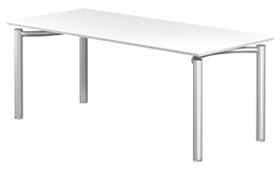 Garage fantoni パソコンデスクME テーブル 53-1M18 幅180cm 奥行80cm 白 (ガラージ/ガレージ/オフィス家具/SOHO), ニシアザイチョウ 4d3f63f6