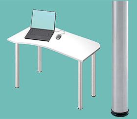 Garage デスク D2-I-ST 白/ホワイト 天板+脚 W1000×D600(450)×H715mm (ガラージ/ガラーヂ/ガレージ/オフィス家具/SOHO/ソーホー/事務所/おしゃれ/シンプル/通販机/ライティング/PC/ワーク/事務/学習/作業/デスク)