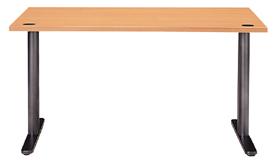 Garage パソコンデスク fantoni W1400×D710×H720mm GT-147H 木目 (ガラージ/ガラーヂ/ガレージ/ファントーニ/オフィス家具/SOHO/ソーホー/事務所/おしゃれ/シンプル/通販机/ライティング/PC/ワーク/事務/学習/作業/デスク)