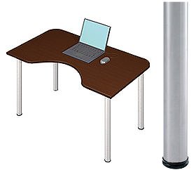 Garage デスク D2-M-ST マホガニー 天板+脚 W1200×D700(500)×H715mm (ガラージ/ガラーヂ/ガレージ/オフィス家具/SOHO/ソーホー/事務所/おしゃれ/シンプル/通販机/ライティング/PC/ワーク/事務/学習/作業/デスク)