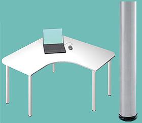 Garage デスク D2-L-ST 白/ホワイト 天板+脚 W1200×D1200×H715mm (ガラージ/ガラーヂ/ガレージ/オフィス家具/SOHO/ソーホー/事務所/おしゃれ/シンプル/通販机/ライティング/PC/ワーク/事務/学習/作業/デスク)