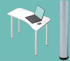 Garage デスク D2-H-SV 白/ホワイト 天板+脚 W1000×D600(450)×H715mm (ガラージ/ガラーヂ/ガレージ/オフィス家具/SOHO/ソーホー/事務所/おしゃれ/シンプル/通販机/ライティング/PC/ワーク/事務/学習/作業/デスク)