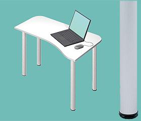 Garage デスク D2-H-AO 白/ホワイト 天板+脚 W1000×D600(450)×H715mm (ガラージ/ガラーヂ/ガレージ/オフィス家具/SOHO/ソーホー/事務所/おしゃれ/シンプル/通販机/ライティング/PC/ワーク/事務/学習/作業/デスク)