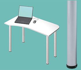 Garage デスク D2-I-SV 白/ホワイト 天板+脚 W1000×D600(450)×H715mm (ガラージ/ガラーヂ/ガレージ/オフィス家具/SOHO/ソーホー/事務所/おしゃれ/シンプル/通販机/ライティング/PC/ワーク/事務/学習/作業/デスク)