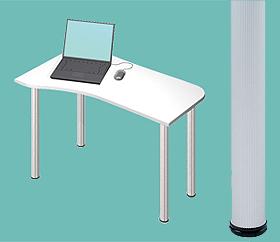 Garage デスク D2-I-AO 白/ホワイト 天板+脚 W1000×D600(450)×H715mm (ガラージ/ガラーヂ/ガレージ/オフィス家具/SOHO/ソーホー/事務所/おしゃれ/シンプル/通販机/ライティング/PC/ワーク/事務/学習/作業/デスク)