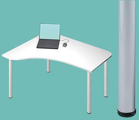 Garage デスク D2-E-SV 白/ホワイト 天板+脚 W1200×D1000(607)×H715mm (ガラージ/ガラーヂ/ガレージ/オフィス家具/SOHO/ソーホー/事務所/おしゃれ/シンプル/通販机/ライティング/PC/ワーク/事務/学習/作業/デスク)