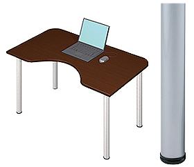 Garage デスク D2-M-SV マホガニー 天板+脚 W1200×D700(500)×H715mm (ガラージ/ガラーヂ/ガレージ/オフィス家具/SOHO/ソーホー/事務所/おしゃれ/シンプル/通販机/ライティング/PC/ワーク/事務/学習/作業/デスク)