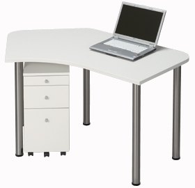 Garage パソコンデスク D2 D2-B-ST 白/ホワイト (ガラージ/ガラーヂ/ガレージ/オフィス家具/SOHO/ソーホー/事務所/おしゃれ/シンプル)