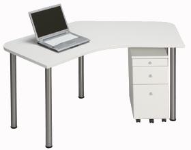 Garage パソコンデスク D2 D2-CーST 白/ホワイト (ガラージ/ガラーヂ/ガレージ/オフィス家具/SOHO/ソーホー/事務所/おしゃれ/シンプル)
