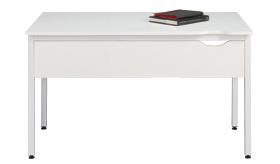 Garage CC テーブル幕板付き C2-127HM白 W1200×D700×H700mm (ガラージ/ガラーヂ/ガレージ/オフィス家具/SOHO/ソーホー/事務所/おしゃれ/シンプル/通販ダイニング/店舗/会議用/ミーティング/キッチン/ワーク/パソコン)