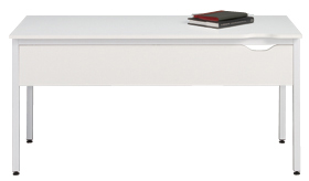 Garage CC テーブル幕板付き C2-146HM白 W1400×D600×H700mm (ガラージ/ガラーヂ/ガレージ/オフィス家具/SOHO/ソーホー/事務所/おしゃれ/シンプル/通販ダイニング/店舗/会議用/ミーティング/キッチン/ワーク/パソコン)