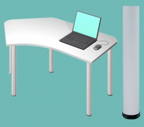 Garage パソコンデスク D2 D2-B-AO 白/ホワイト (ガラージ/ガラーヂ/ガレージ/オフィス家具/SOHO/ソーホー/事務所/おしゃれ/シンプル/通販机/ライティング/PC/ワーク/事務/学習/作業/デスク)