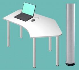 Garage パソコンデスク D2 D2-CーSV 白/ホワイト (ガラージ/ガラーヂ/ガレージ/オフィス家具/SOHO/ソーホー/事務所/おしゃれ/シンプル/通販机/ライティング/PC/ワーク/事務/学習/作業/デスク)