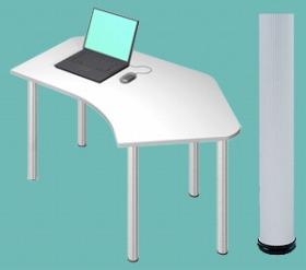 Garage パソコンデスク D2 D2-CーAO 白/ホワイト (ガラージ/ガラーヂ/ガレージ/オフィス家具/SOHO/ソーホー/事務所/おしゃれ/シンプル/通販机/ライティング/PC/ワーク/事務/学習/作業/デスク)