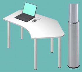 Garage パソコンデスク D2 D2-C-SJ 白/ホワイト (ガラージ/ガラーヂ/ガレージ/オフィス家具/SOHO/ソーホー/事務所/おしゃれ/シンプル/通販机/ライティング/PC/ワーク/事務/学習/作業/デスク)