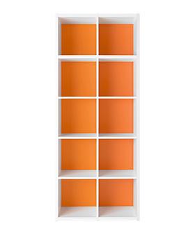 Garage グリッド収納庫GR 5段2列セット GR-0820 マンダリンオレンジ (ガラージ/ガレージ/家具)