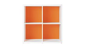 Garage グリッド収納庫GR 2段2列セット GR-0808 マンダリンオレンジ (ガラージ/ガレージ/家具)