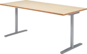 Garage fantoni GL テーブル デスク GL-188H W1800×D800×H720 白木 (ガラージ/ガラーヂ/ガレージ/ファントーニ/オフィス家具/SOHO/ソーホー/事務所/おしゃれ/シンプル/通販ダイニング/店舗/会議用/ミーティング/キッチン/ワーク/パソコン)