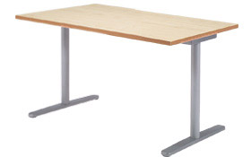 Garage fantoni GL テーブル デスク GL-148H W1400×D800×H720 白木 (ガラージ/ガラーヂ/ガレージ/ファントーニ/オフィス家具/SOHO/ソーホー/事務所/おしゃれ/シンプル/通販ダイニング/店舗/会議用/ミーティング/キッチン/ワーク/パソコン)