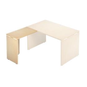 Garage 木製パソコンデスク L字用 AFサイドデスク AF-074L 木目 ホワイトメープル (ガラージ/ガレージ/オフィス家具/SOHO)