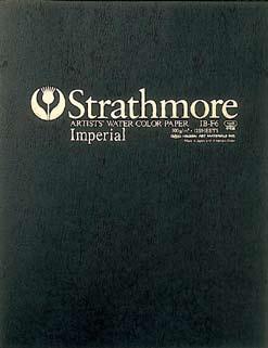 【お得な3冊まとめ】Strathmore 水彩紙 インペリアル スケッチブック ブロックタイプ F10サイズ (ストラスモア/画帳/写生帳/写生帖)
