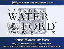 【お得な3冊まとめ】WATER FORD 水彩紙 ホワイト スケッチブック ブロック綴じ F6サイズ
