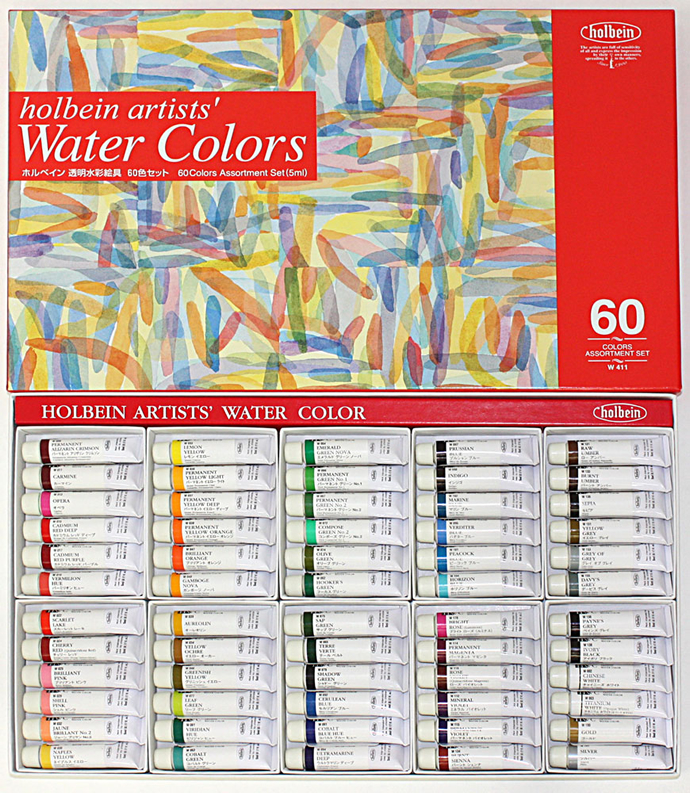 60 colors of HOLBEIN transparence picture in watercolors 2 tube sets (ホルベイン / paint)