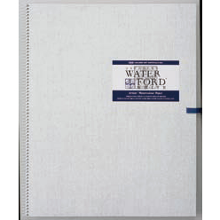 【お得な3冊まとめ】WATER FORD 水彩紙 ホワイト スケッチブック スプリング綴じ F6サイズ (ウォーターフォード/画帳/写生帳/写生帖)