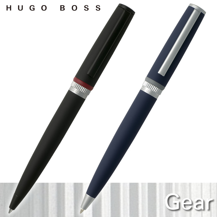 ヒューゴボス ギア ボールペン ブラック/ブルー