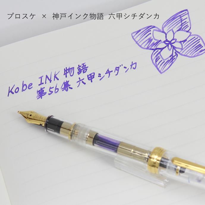 NAGASAWA original profit fountain pen skeleton PROSKE プロスケ 14 k nib