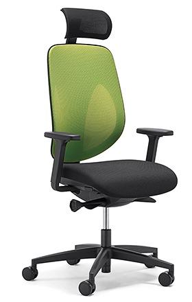 【受注生産 納期約2週間】 ジロフレックス 353 ヘッドレスト肘付きタイプ 353-9029RS イエローグリーン (giroflex/オフィスチェアー/OAチェアー/パソコンチェア/イス/椅子)