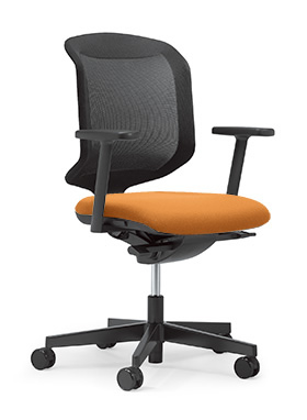 【受注生産 納期約2週間】 ジロフレックス434 434-7019RS OR オレンジ 橙 (giroflex/オフィスチェアー/OAチェアー/パソコンチェア/イス/椅子)