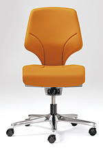 【受注生産 納期約2週間】 ジロフレックス 64 ローバック 肘無し 3078RCS イエロー 黄 (giroflex/オフィスチェアー/OAチェアー/パソコンチェア/イス/椅子)