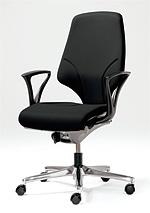 【受注生産 納期約2週間】 ジロフレックス 64 ミドルバック 7578RCS ブラック 黒 (giroflex/オフィスチェアー/OAチェアー/パソコンチェア/イス/椅子)
