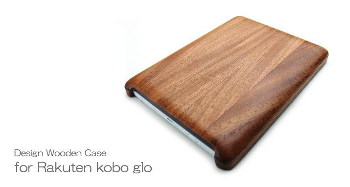 for Rakuten Kobo glo typeA wooden case cover (for exclusive use of LIFE/  life / craftsman handicraft / Rakuten / コボ /)