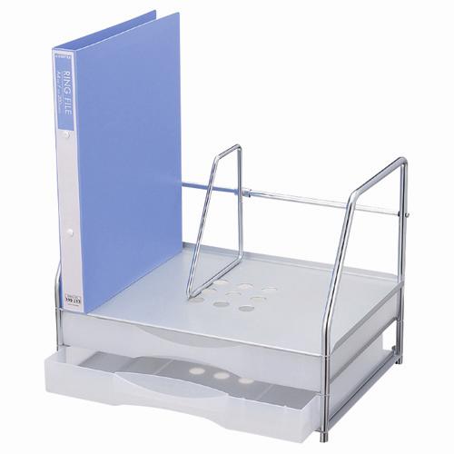 プラス ブックスタンド付レターケース A4横 LC-212BS (レターケース/整理用品 レターケース/レターケース)