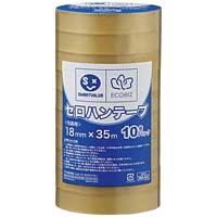 ジョインテックス セロハンテープ18mm×35m200巻 B639J-200 (接着テープ/梱包資材 梱包テープ セロハンテープ/セロハンテープ)